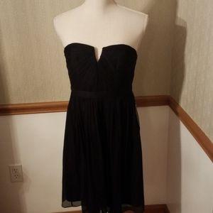 J. CREW Nadia silk chiffon black dress
